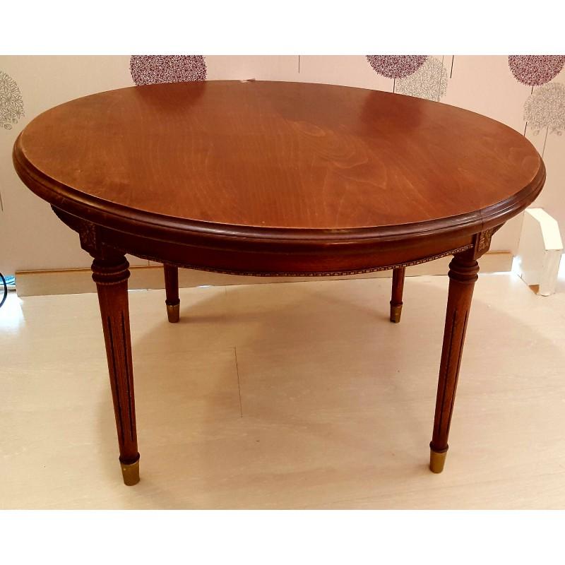 Mesa de madera redonda cheap mesa redonda madera natural - Mesa de madera redonda ...